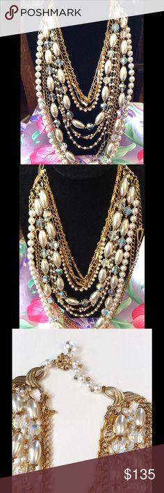 Selling this Repurposed ReClaimed Statement Necklace OOAK on Poshmark! My username is: mixedbrew. #shopmycloset #poshmark #fashion #shopping #style #forsale #Vintage #Jewelry
