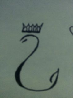 Hand-Drawn Crowned Swan Tattoo Inspiration
