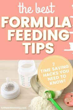 Discover formula feeding tips and tricks to make feeding easier, hacks for night time bottle feeding, and must have formula feeding essentials you'll need! Newborn Baby Tips, Newborn Needs, Newborn Care, How Much Formula, Baby Life Hacks, Baby Feeding Schedule, Baby On A Budget, Preparing For Baby, Baby Food Recipes