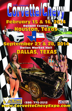 Corvette/Chevy Expo Poster for Houston, Texas February 15 & 16, 2014 held at the Reliant Center.