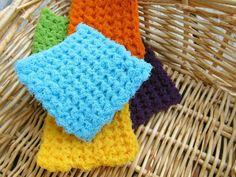 (4) Name: 'Crocheting : Scrub 'n Scour Pad