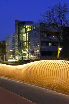 Bridge, Handregel cortenstaal. Bridge, designed by Bureau Stoep