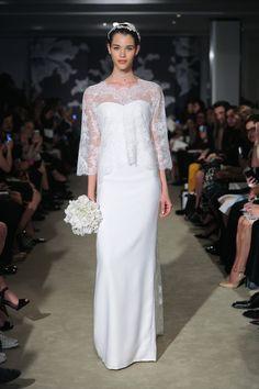 View entire slideshow: Bridal Market Spring 2015 Trends on http://www.stylemepretty.com/collection/233/ Carolina Herrera