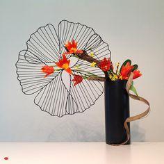 Fine Antique Samurai Swords, Ikebana Artistry and Related Arts Hanging Flower Arrangements, Arrangements Ikebana, Contemporary Flower Arrangements, Ikebana Flower Arrangement, Beautiful Flower Arrangements, Floral Arrangements, Beautiful Flowers, Exotic Flowers, Purple Flowers
