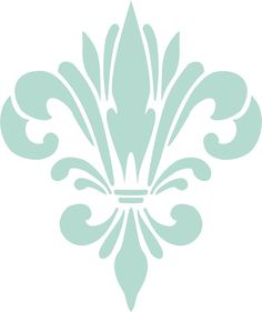 Fancy Fleur De Lis Stencil, Craft Stencil, Wall Stencil via Etsy