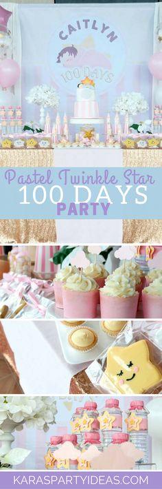 Pastel Twinkle Star 100 Days Party via Kara's Party Ideas - KarasPartyIdeas.com (1)