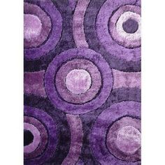 Rug Factory Plus, Living Shag Collection, Design 110 Lavender Area Rug
