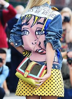 Pop Art Retro Vintage Cartoon Back Print Denim Jacket Grunge Tumblr Style | eBay ✿