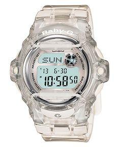Baby-G Watch, Women's Clear Resin Strap BG169R-7B - Cool!