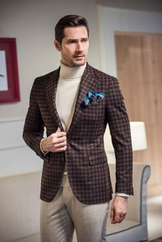 Sartoria Rossi micro check jacket | Men's Fashion & Style | Luxury Casual | Shop Menswear, Men's Clothes, Men's Apparel, Moda Masculina at designerclothingfans.com