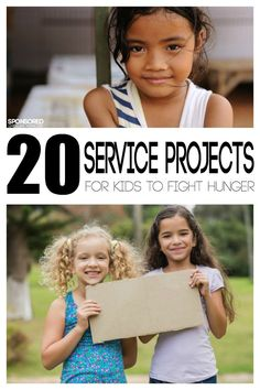 20 Service Project for Kids to Help Fight Hunger http://lemonlimeadventures.com/20-service-projects-for-kids-fight-hunger/