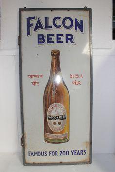 #vintage #signboard #antique #falconbeer #collectible #prachinart