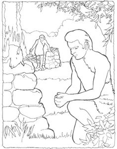 coloring page cain and abel | coloring - bible | pinterest ... - Bible Coloring Pages Cain Abel