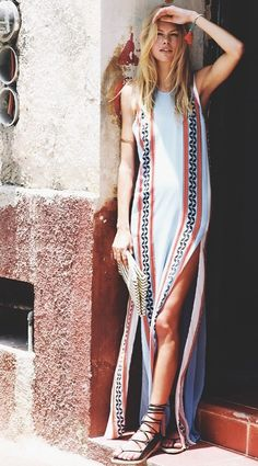 Hippie Outfit Ideas | boho maxi dress