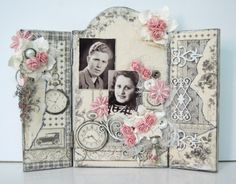 Altered wooden panel by Ingrid