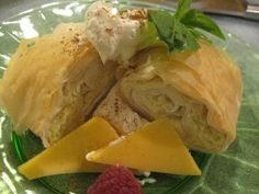 Käse Strudel - Cheese Strudel is very much like a German cheese cake in Strudel pastry. You can use a classical strudel dough or a more convenient one like Phyllo or Puff Pastry.