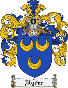 Ryder Coat of Arms Ryder Family Crest Instant Download - for sale, $7.99 at Scubbly