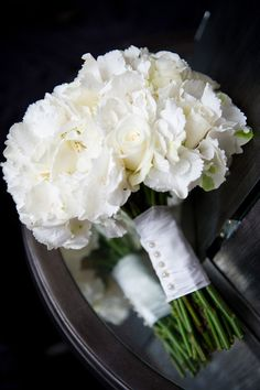 Bridesmaid flowers in white