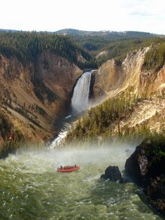 Lower Yellowstone Falls, Wyoming. Wyoming has over 300 waterfalls and the tallest in the United States