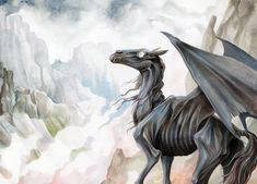 Thestral by EchoGreens.deviantart.com on @deviantART From the books/movies of Harry Potter
