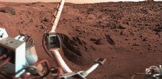 Landscape on surface of Mars