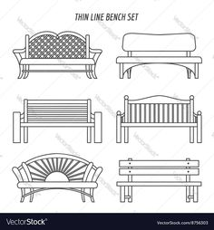 Imagens, fotos stock e vetores similares de Vector visual guide of sofa design styles. Hand drawn sofa set made in linear style. Beautiful design elements, perfect for any business related to the furniture industry. Woodworking Bandsaw, Woodworking Projects Plans, Bench Drawing, Drawing For Beginners, Beginner Drawing, Bench Set, Bullet Journal Art, Aesthetic Drawing, Thin Line