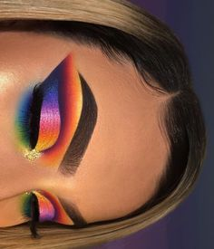 28 Pretty Rainbow Makeup Ideas - Makeup - Make-Up Makeup Eye Looks, Beautiful Eye Makeup, Eye Makeup Art, Cute Makeup, Eyeshadow Makeup, Eyeshadows, Makeup Lips, Elf Makeup, Pink Eyeshadow
