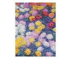Stampa fine art su canvas con telaio in legno Chrysanthemums - 80x60x4 cm
