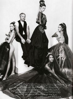 1992 - Christy Turlington, Gianni Versace , Stephanie Seymour, Yasmeen Ghauri Naomi Campbell by Patrick Demarchelier 4 HarpersBazaar