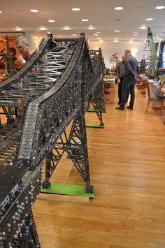Meccano - Marklin bridge shown at Freundeskreis Metallbaukasten 2016 in Munster