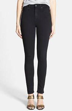 f4b51473a65 PAIGE Designer Transcend - Margot High Waist Ultra Skinny Jeans High  Waisted Black Jeans