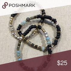 Stella and Dot Artisan Stretch Bracelet EUC.  Multi stone stretch bracelets.  Comes with original packaging. Stella & Dot Jewelry Bracelets