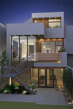 architecture design Haus - Home Design Ideas Beautiful Home Designs, Beautiful Homes, Architecture Design, Architecture Interiors, Minimalist Architecture, Facade House, House Facades, House Front, Modern House Design