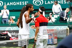 Dustin Brown of Germany after his match against Kei Nishikori of Japan during day four of the Gerry Weber Open at Gerry Weber Stadium on June 18, 2015 in Halle, Germany.