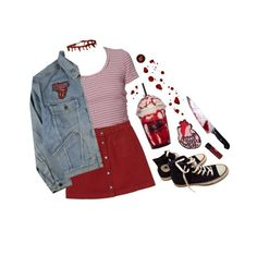 """""""fluids"""" by dahmergirl ❤ liked on Polyvore featuring Monki and Converse"""
