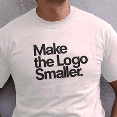 Men's Logo Smaller White T-shirt  by TypographyShop