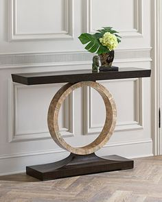 Napree+Circle+Console+Table+by+John-Richard+Collection+at+Neiman+Marcus.