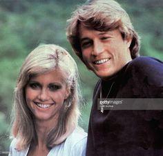 USA Photo of Andy GIBB and OLIVIA NEWTON-JOHN, L-R: Olivia Newton-John, Andy Gibb