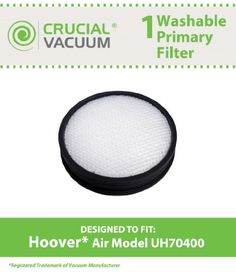 #manythings This is a great high quality Washable and Reusable Filter Designed To Fit #Hoover WindTunnel Air #Model UH70400 & UH72400; Compare To Hoover Part # 30...