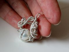 Homemade Jewelry | Handmade Jewelry | Wire, pearl and crystals pendant ...