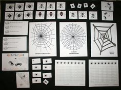 spider activities, spider lessons, spider number cards, skip counting lessons, skip counting by 2's, 3's, 5's, and 10's, alphabet cards, traceable alphabet flashcards, math mats, common core lessons for kindergarten and first grade, common core math lessons,