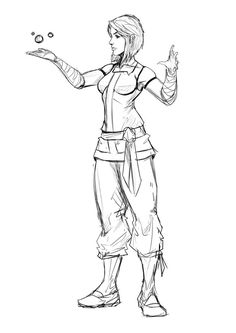 part of my long ongoing plan to finish the old og team avatar sketch. started redrawing toph's pose to include her police chief style armor.