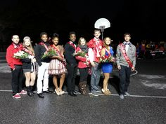 Palmyra High School Homecoming Court with flowers donated by Ziegfield for the Palymra Halloween Parade.