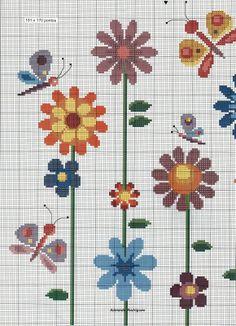 Meu Cantinho: Gráficos de Flores em Ponto Cruz !!!