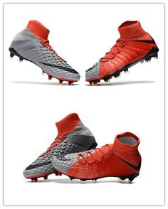 7530ad077 The sole plate of the Nike Hypervenom Phantom III Red Grey boots features a  more flexible material in the front (Pebax)
