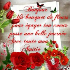 bon dimanche Happy Friendship Day, Friendship Quotes, Beautiful Romantic Pictures, French Language Lessons, Good Day Quotes, Bon Weekend, Happy Day, Good Morning, Christmas Wreaths