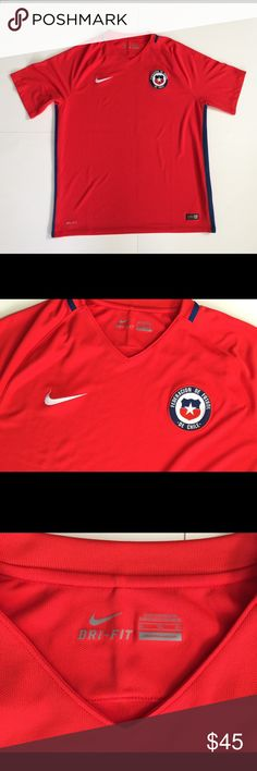 Authentic Nike CHILE 2016 Jersey Authentic Nike CHILE 2016 Jersey. Perfect Condition. Men's size XL  Soccer Futbol Nike Shirts