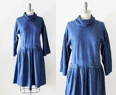 Liz Claiborne dress / 1980s dress / 80s dress by TheVintageAtelier