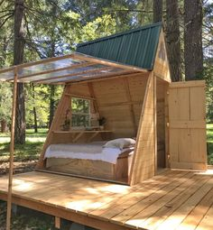 Outdoor Spaces, Outdoor Living, Outdoor Decor, Outdoor Projects, Wood Projects, A Frame Cabin, Play Houses, Guest Room, Gazebo