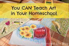 Teaching Art in the Homeschool